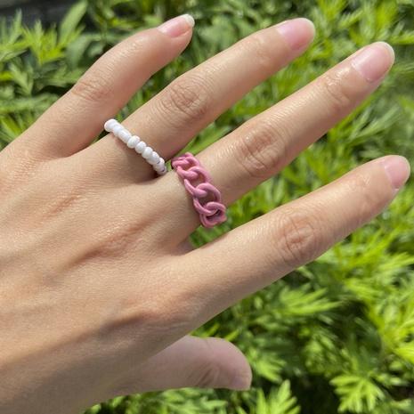 wholesale conjunto de anillos de aleación de cuentas de arroz de color joyería Nihaojewelry NHYIA389778's discount tags