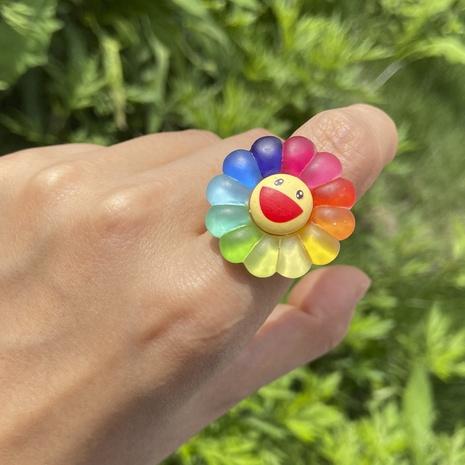 Al por mayor joyería margarita flor color smiley anillo de resina Nihaojewelry NHYIA389781's discount tags