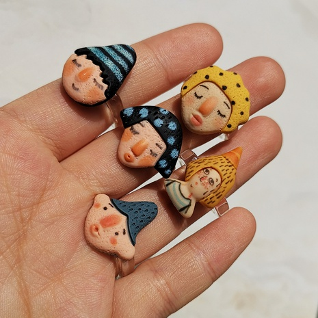 Al por mayor joyería personaje de dibujos animados avatar anillo de resina Nihaojewelry NHYIA389782's discount tags