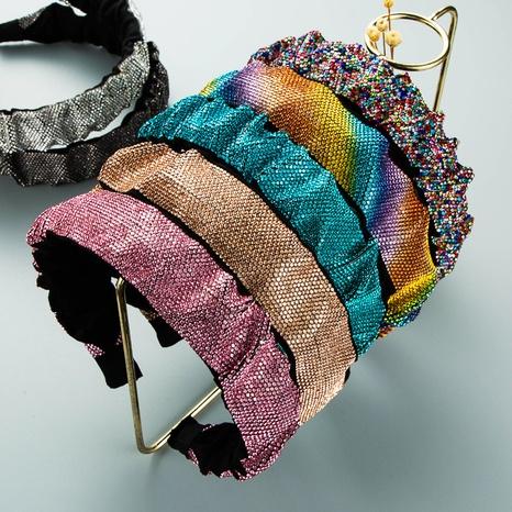 wholesale retro geometric folds diamond headband Nihaojewelry  NHLN389785's discount tags