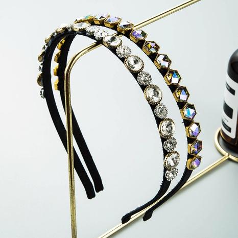 wholesale Korean fine edge inlaid zircon headband Nihaojewelry  NHLN389790's discount tags
