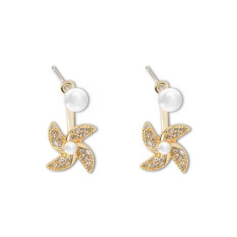 wholesale fashion rotating windmill diamond earrings Nihaojewelry  NHOT391667's discount tags