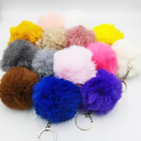 Multicolor Rabbit Fur Ball Cute Keychain Wholesale Accessories Nihaojewelry NHDI389895's discount tags