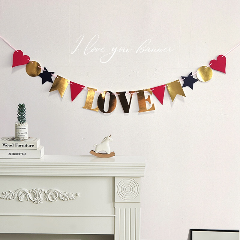 wholesale letter LOVE pull flag atmosphere layout supplies Nihaojewelry  NHAH389957