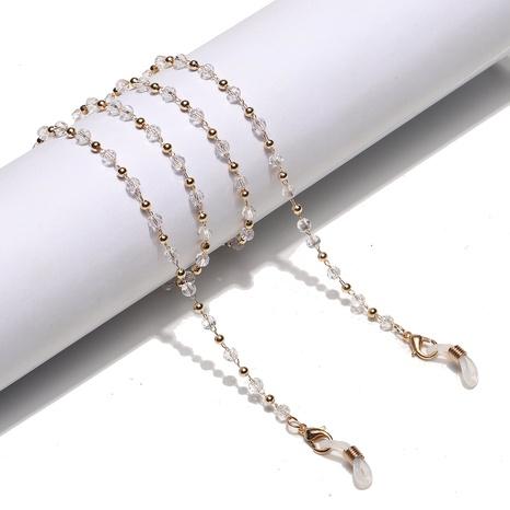 Großhandel Mode Geometrische Kupferperle Kristall Spleißen Gläser Kette Nihaojewelry NHBC389982's discount tags