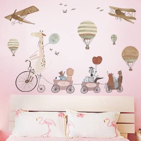 wholesale animal riding hot air balloon airplane pattern wall stickers nihaojewelry  NHAF389986's discount tags
