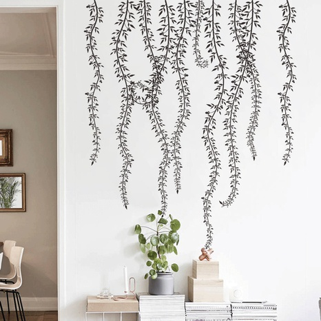 wholesale black rattan branches bedroom porch wall stickers nihaojewelry  NHAF389988's discount tags