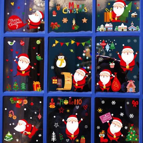 Wholesale Cartoon Santa Claus Window Wall Sticker Nihaojewelry  NHAF389991's discount tags
