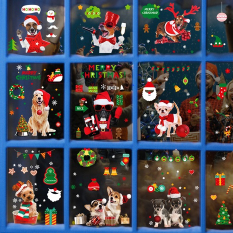 wholesale Christmas pattern window wall stickers nihaojewelry  NHAF389992's discount tags