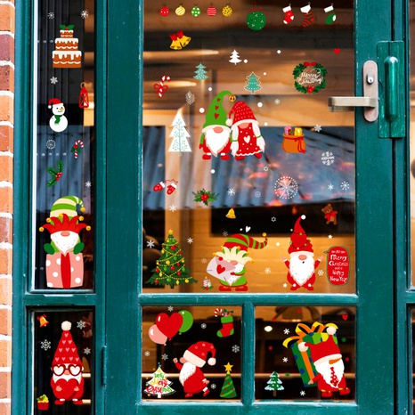 wholesale Santa Claus Christmas pattern window wall stickers nihaojewelry  NHAF389989's discount tags
