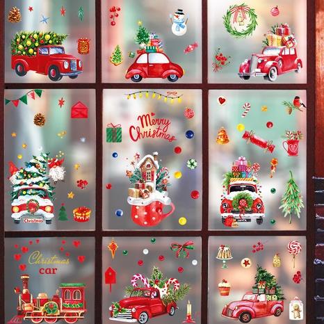 wholesale cartoon Christmas pattern window glass wall stickers nihaojewelry  NHAF389994's discount tags