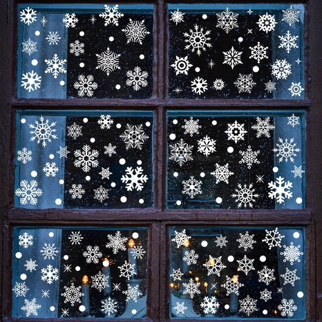 wholesale white snowflake Christmas glass window wall stickers nihaojewelry  NHAF389995's discount tags