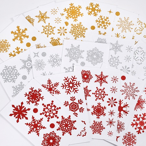 wholesale Christmas snowflake glass window wall stickers nihaojewelry  NHAF389990's discount tags