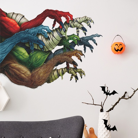 wholesale cartoon halloween multiple arms pattern wall sticker nihaojewelry  NHAF389999's discount tags