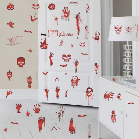 wholesale bloody handprint footprints pattern wall sticker nihaojewelry  NHAF390000's discount tags