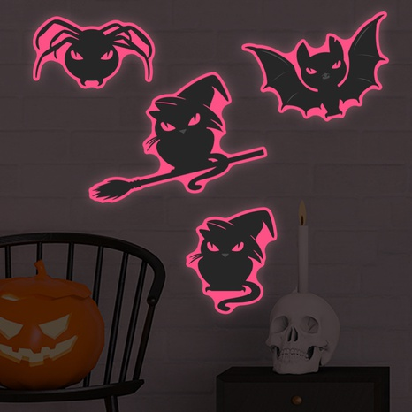 Wholesale Cartoon Luminous Thriller Kitten Wall Stickers Nihaojewelry  NHAF390004's discount tags