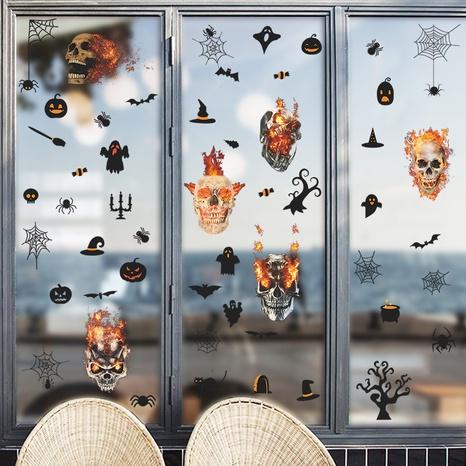 wholesale halloween skull flame bat pattern wall sticker nihaojewelry  NHAF390003's discount tags