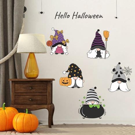 wholesale cartoon old man pumpkin pattern wall sticker nihaojewelry  NHAF390011's discount tags
