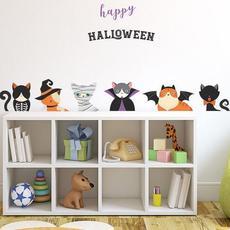 wholesale Halloween cartoon cat pattern wall sticker nihaojewelry  NHAF390012's discount tags