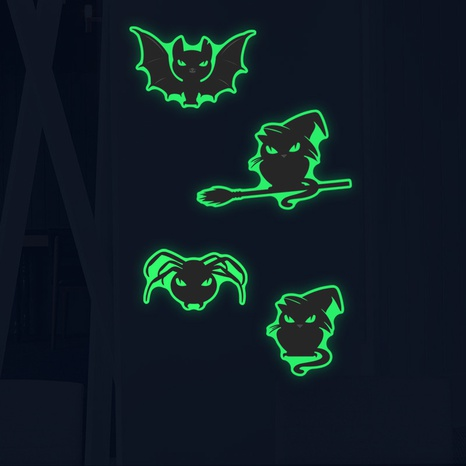 Wholesale Cartoon Luminous Thriller Kitten Wall Stickers Nihaojewelry  NHAF390013's discount tags