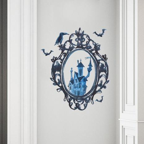 wholesale mirror crow castle pattern wall sticker nihaojewelry  NHAF390015's discount tags