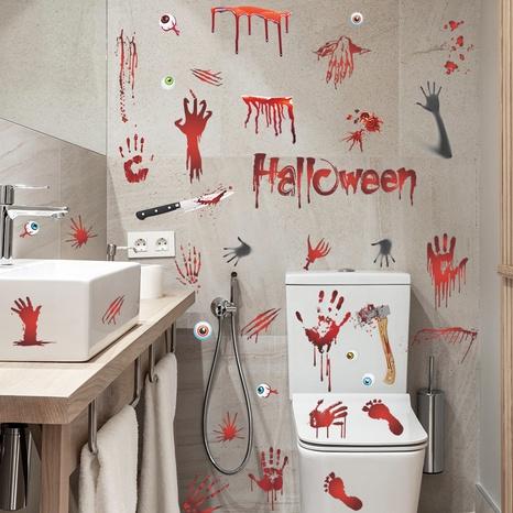 Wholesale Bloody Handprint Footprints Halloween Pattern Wall Sticker Nihaojewelry  NHAF390022's discount tags