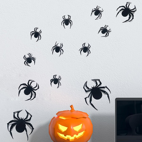 wholesale three-dimensional spider pattern wall stickers nihaojewelry  NHAF390023's discount tags