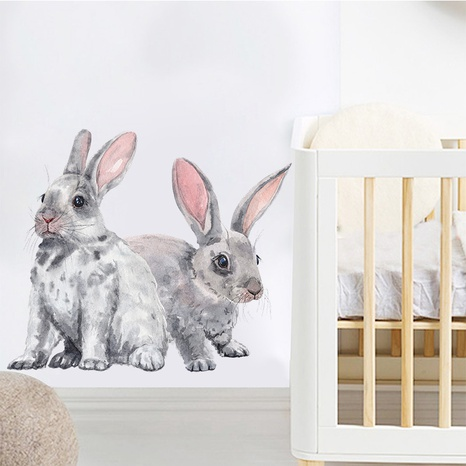 wholesale two little rabbits pattern bedroom entrance wall stickers nihaojewelry NHAF390024's discount tags