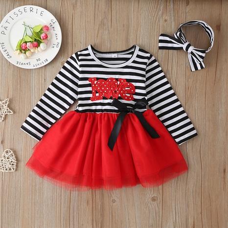 vestido de los niños de la gasa neta rayada de la moda al por mayor Nihaojewelry NHLF390106's discount tags