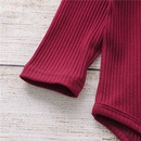wholesale childrens floral longsleeved romper footclimbing suit Nihaojewelry NHLF390115