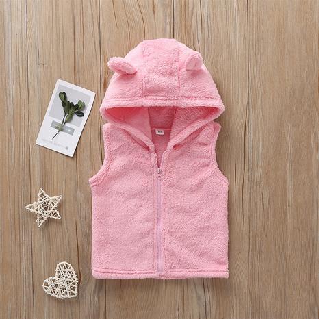 chaqueta con capucha para niños con cremallera de color sólido de moda al por mayor Nihaojewelry NHLF390130's discount tags
