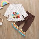 wholesale cartoon kids longsleeved Tshirt trousers 2piece Nihaojewelry NHLF390133