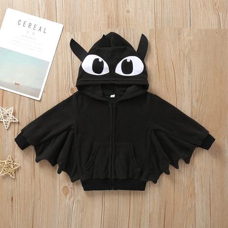 Chaqueta de manga larga con capucha de murciélago negro con capucha para niños de Halloween al por mayor Nihaojewelry NHLF390137's discount tags