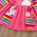 childrens casual rainbow longsleeved dress wholesale Nihaojewelry NHLF390143