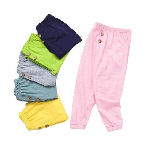 Al por mayor pantalones casuales de algodón de color sólido Nihaojewelry NHLF390154's discount tags