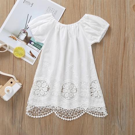 vestido de color sólido para niños al por mayor Nihaojewelry NHLF390161's discount tags