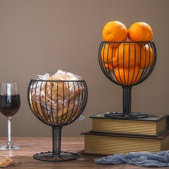 wholesale hollow wrought iron wine cup-shaped fruit basket nihaojewelry  NHAW390361
