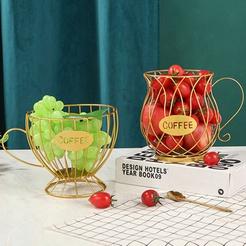 wholesale wrought iron coffee cup shape fruit basket nihaojewelry  NHAW390362