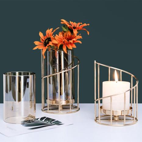 Schmiedeeisen Blumenkerzenhalter Ornamente Großhandel Nihaojewelry NHAW390369's discount tags