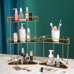 wholesale marble pattern multi-layer cosmetic storage rack nihaojewelry  NHAW390375