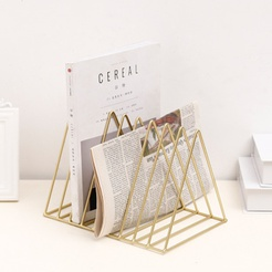 metal 7 grid triangle simple small bookshelf wholesale Nihaojewelry NHAW390381