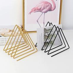 simple metal 5 grid triangle small bookshelf wholesale Nihaojewelry NHAW390382