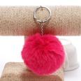 NHDI1809401-Rose-red-Single-loop-buckle-8cm-hair-ball