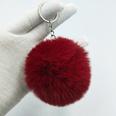 NHDI1809402-Wine-red-Single-loop-buckle-8cm-hair-ball