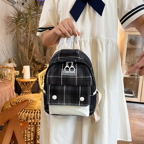 wholesale large-capacity plaid pattern backpack nihaojewelry  NHLH390445's discount tags