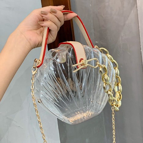 wholesale transparent jelly color shoulder shell bag nihaojewelry  NHLH390457's discount tags