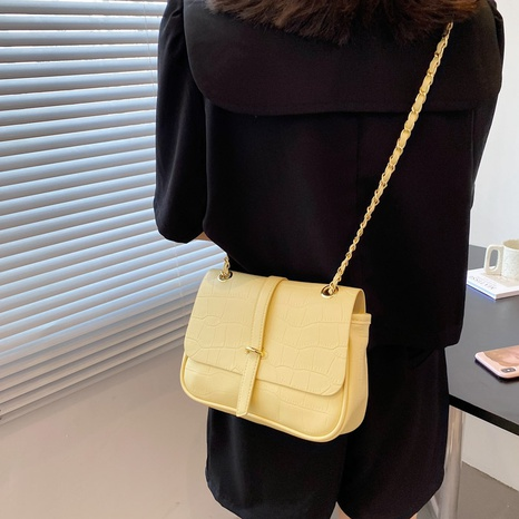 wholesale stone pattern shoulder messenger small square bag nihaojewelry  NHLH390466's discount tags