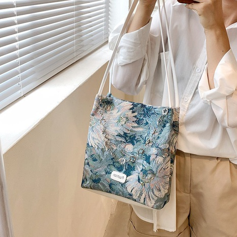 wholesale large-capacity painting portable shoulder bag nihaojewelry  NHLH390476's discount tags