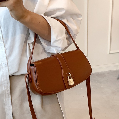 wholesale solid color lock buckle messenger small square bag nihaojewelry  NHLH390483's discount tags