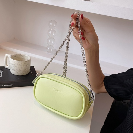 wholesale solid color messenger chain shoulder bag nihaojewelry  NHLH390491's discount tags